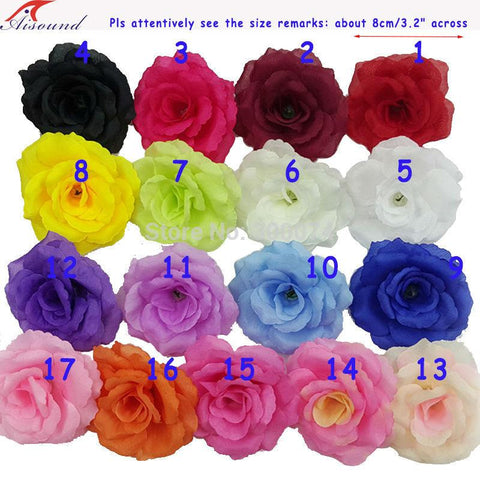 Handmade Silk Rose Flowers Head For Christmas Decoration - ChristmaShop