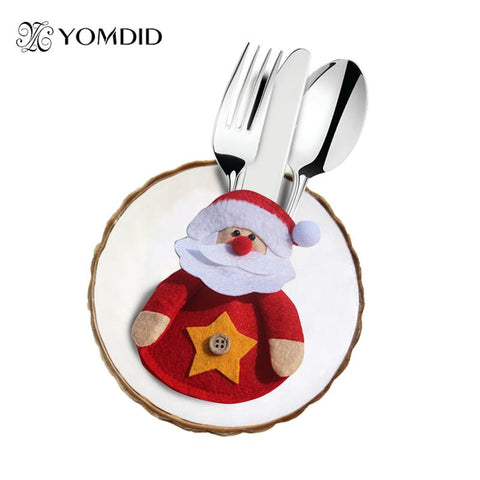 8pcs Tableware Ornaments, Cute Santa Claus Christmas Decoration - ChristmaShop