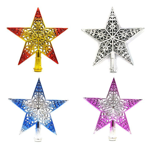 1PCS Cute 20cm Creative Christmas Decoration star Tree Top - ChristmaShop