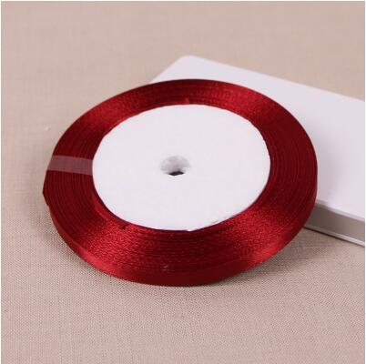 25 Yards/Roll 6mm-50mm Wine Red Colour Satin Ribbon - ChristmaShop