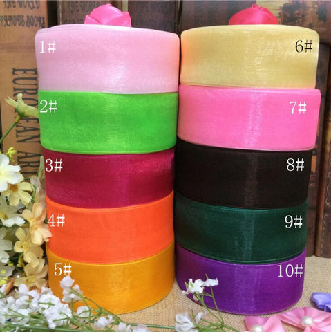(50 yards/lot) 38mm organza ribbons - ChristmaShop