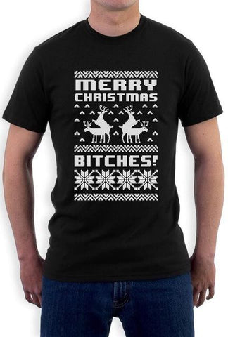 Merry Christmas Bitches T-Shirt For him - ChristmaShop