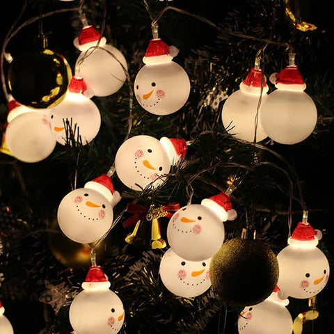 Lovely Snowman LED String Lights - ChristmaShop