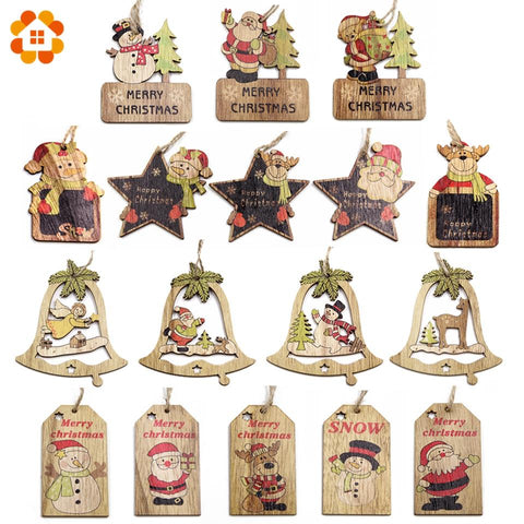 Wooden Christmas Tree Pendants - ChristmaShop