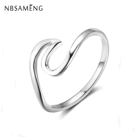 Sterling Silver Wave Ring - ChristmaShop