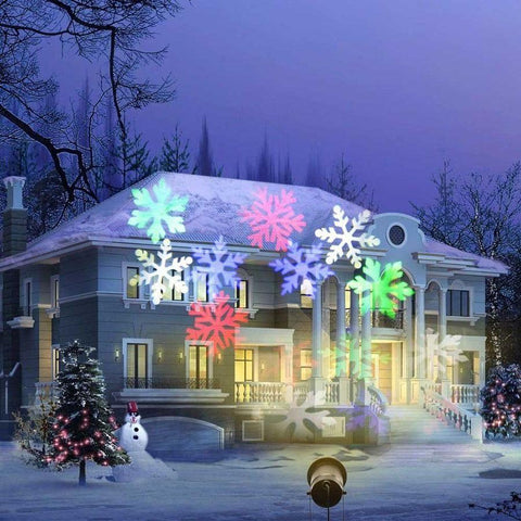 Waterproof Moving Snowflake Laser Projector - ChristmaShop