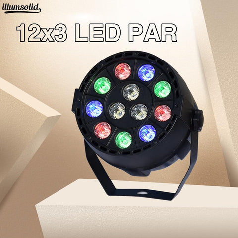 LED Par 12x3w RGBW With DMX512 for club disco DJ Sound Activated Disco Ball Stage Light Lumiere Christmas  Projector Dj Club Par - ChristmaShop
