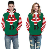 Christmas Couple Fancy Dress Santa Claus Sweater Hoodie Costume Sweatshirt Top Cosplay Party Suit - ChristmaShop