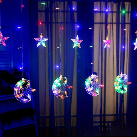 Star and Moon Led Fairy Lights - ChristmaShop