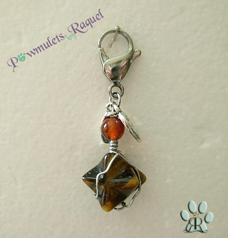 "Dog Charm ""Tiger Eye"" - Merkkabah- By Cheli Chelouche - ChristmaShop"