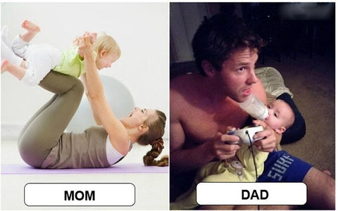 Difference Between Mom and Dad Playing with Baby