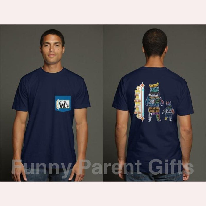 Papa Bear - Short Sleeve Pocket T-Shirt for Men
