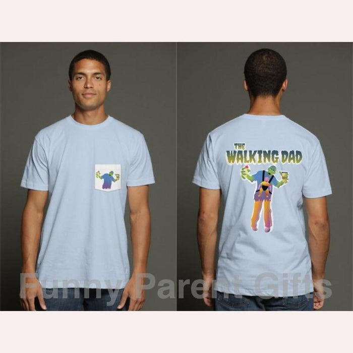 The Walking Dad, Zombie Dad Short-Sleeved Pocket T-Shirt for Men