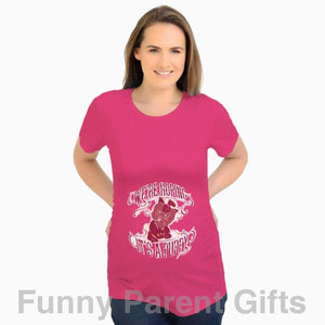 Funny Parent Gifts Maternity Fuchsia / S We're Hoping It's a Puppy - Short Sleeved Ruched Side Maternity T-Shirt