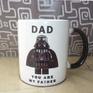 Funny Parent Gifts Men Dad, You Are My Father - Lego Darth Vader Heat Activated Star Wars 13 oz Coffee Mug/Cup