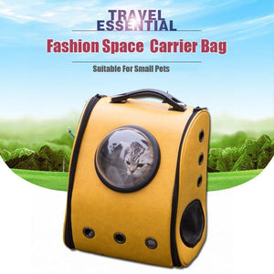 Funny Parent Gifts Pets Space Cabin Breathable Pet/Dog/Cat Bubble Carrier Backpack
