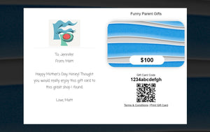Funny Parent Gifts Unisex Funny Parent Gifts Gift Card