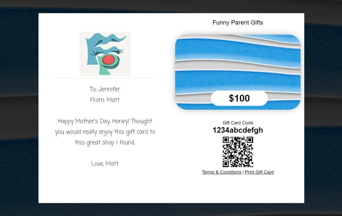Funny Parent Gifts Gift Card