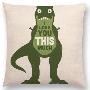 Funny Parent Gifts Unisex T-Rex 18 Inch Square Throw Pillows - Off-Beat Animal Humor Style