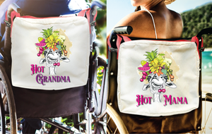Funny Parent Gifts wheelchair bags Hot Mama/Hot Grandma Carmen Miranda Giraffe - Red Handie Totie Bagz-Wheelchair/Walker Bag