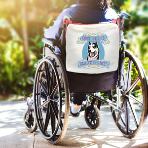 Funny Parent Gifts wheelchair bags Wheelchair/Walker Bag Good Girls Sit, Bad B*****s Ride - Red Handie Totie Bagz - Bag for Wheelchairs/Walkers