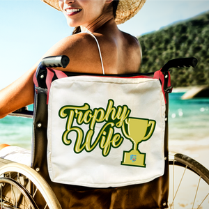 Funny Parent Gifts wheelchair bags Wheelchair/Walker Bag Trophy Wife - Red Handie Totie Bagz Wheelchair/Walker Bag