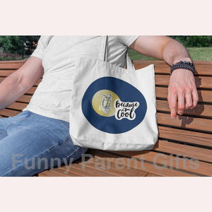 Funny Parent Gifts wholesale bags Because I'm Cool Owl Artwork on Canvas Merchant Tote Bags with Custom Logo