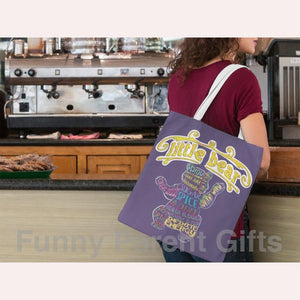 Funny Parent Gifts wholesale bags Little Bear Adjectives Artwork on Canvas Merchant Tote Bags with Custom Logo