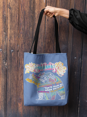 Funny Parent Gifts wholesale bags Mama Bear Word Artwork on Canvas Merchant Tote Bags with Custom Logo