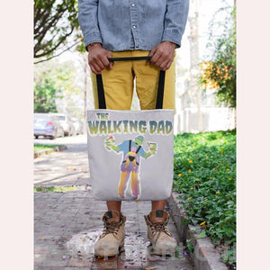 Funny Parent Gifts wholesale bags Zombie Walking Dad Artwork on Canvas Merchant Tote Bags with Custom Logo
