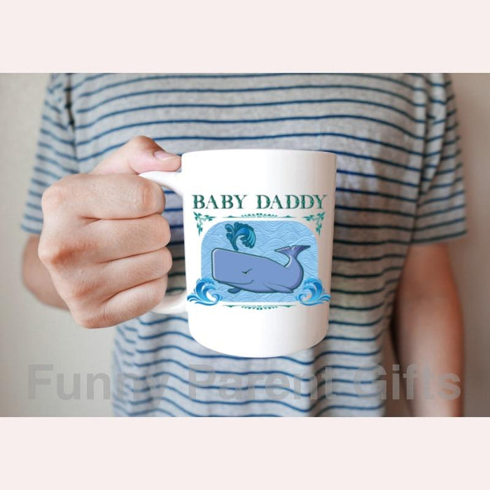 Baby Daddy with Sperm Whale 11 oz and 15 oz Coffee Mug/Cup