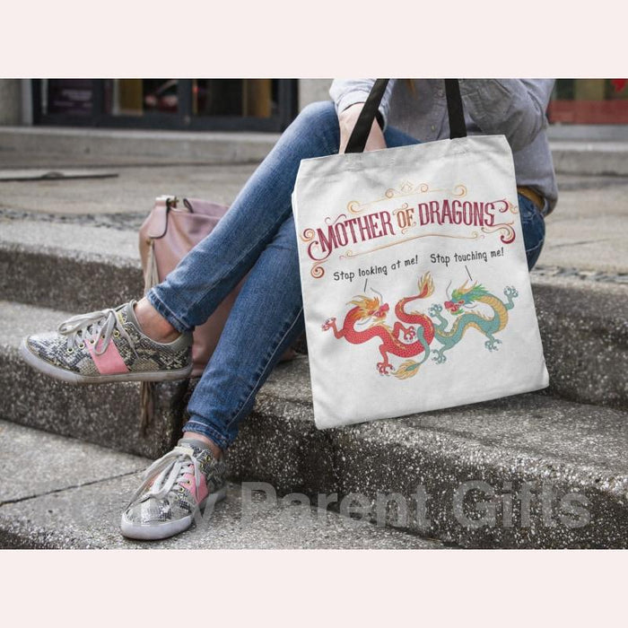 Mother of Dragons 16x16 inch and 18x18 inch Tote Bags for Game of Thrones Fans