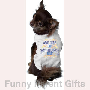 Mirage Pet Products Pet and Owner Good Girls Sit Dog Tank T-Shirt