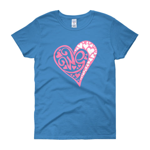 Ladies Love Heart Tee