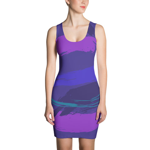 Purple-scape Cut & Sew Dress