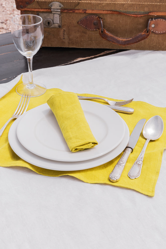 Set/Serviette Malaki Jaune Curcuma - VERDADE TRAVEL STORIES