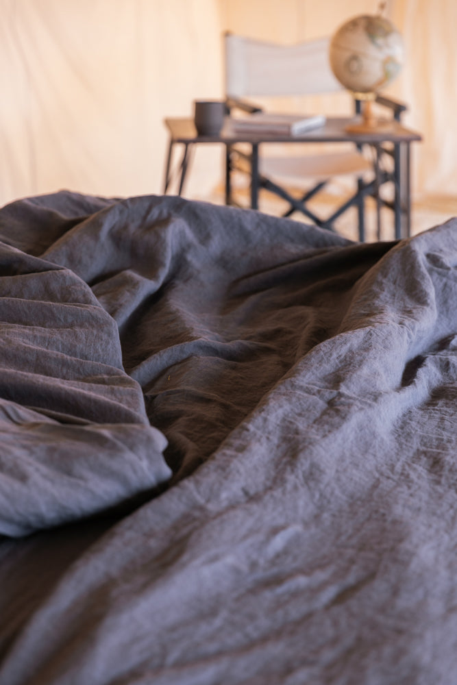 Housse de Couette Ourika Anthracite - VERDADE TRAVEL STORIES