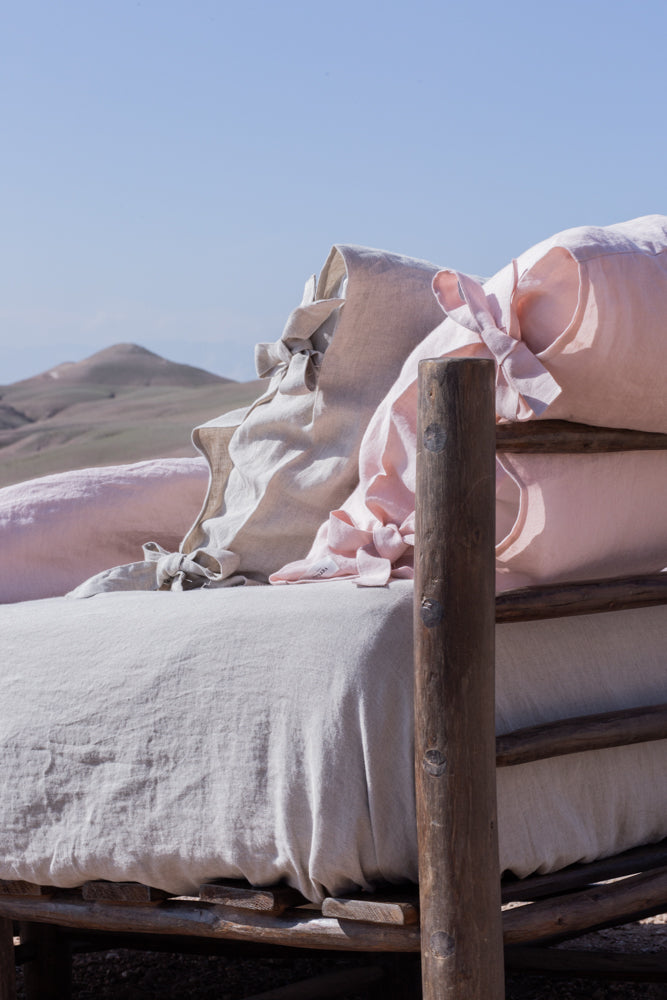 Housse de Couette Ourika Rose Poudré - VERDADE TRAVEL STORIES