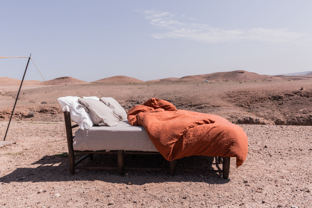 Housse de Couette Ourika Terracotta - VERDADE TRAVEL STORIES