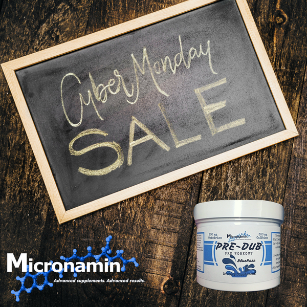 Happy Cyber Monday! Last chance to get 50% off all Micronamin Supplements!