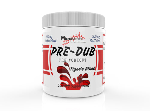 Pre-Dub Pre Workout Powder with Octodrine (DMHA) by Micronamin Sports Nutrition & Performance Supplements