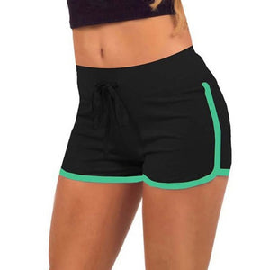 Patchwork Elastic Running Yoga Shorts