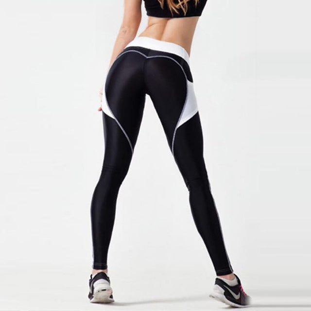Push Up Fashion Heart Black Legging
