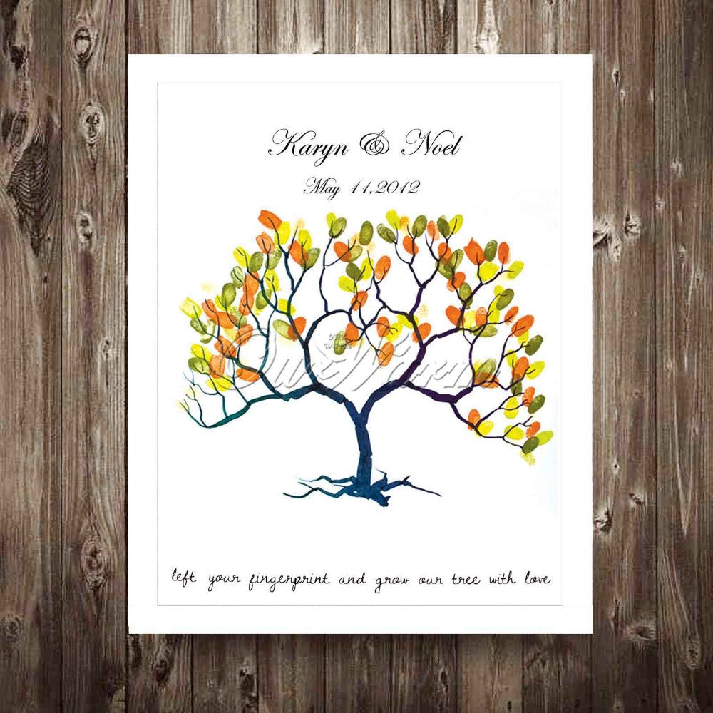Fingerprint Tree Signature Guest Book