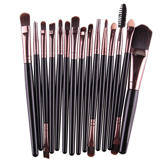 15 Pcs Pro Makeup Brushes Set