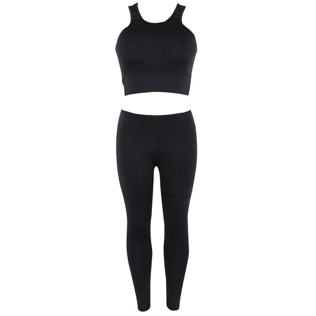 Black Sport Two Piece Set