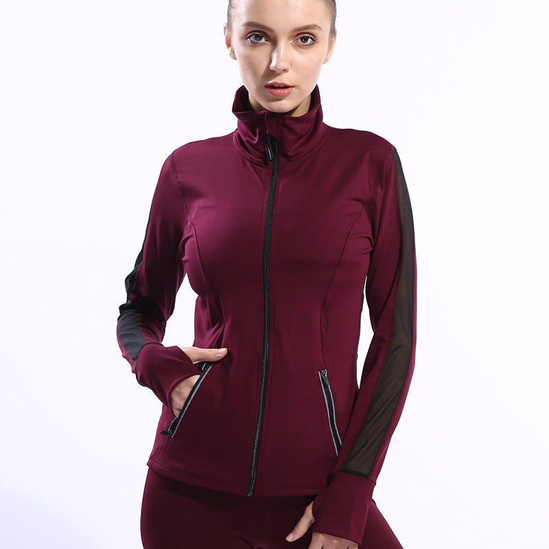 Long Sleeve Zipper Running Jackets