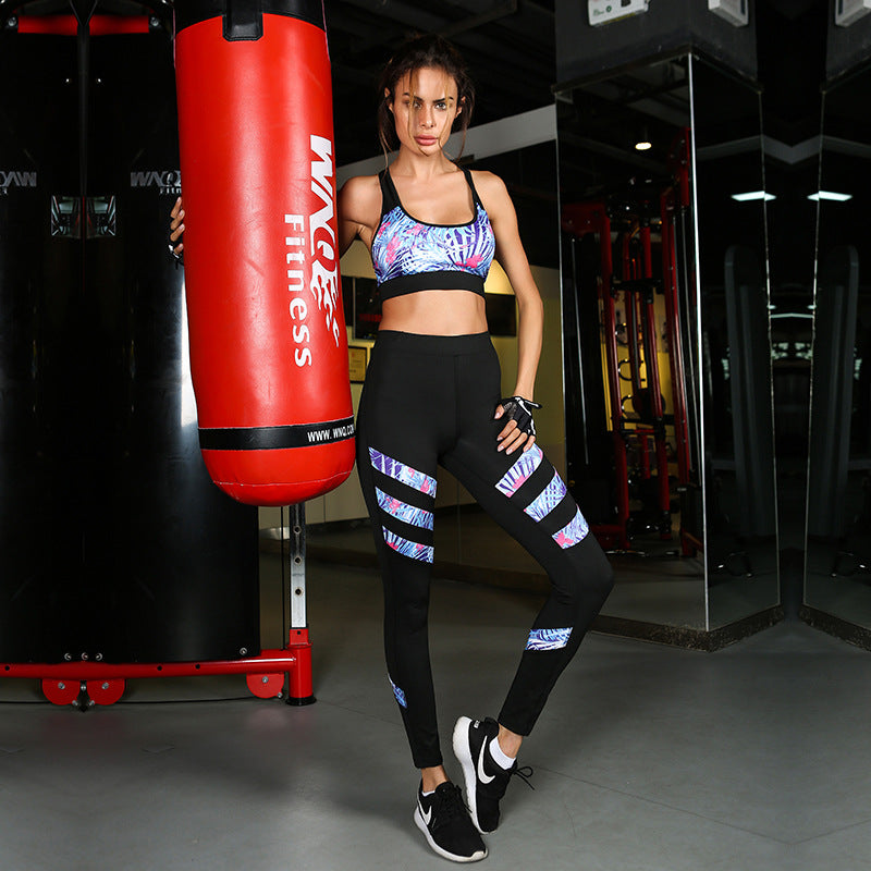 Bra & Leggings Printed Stripes