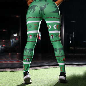 Deer and Gifts Christmas Leggings
