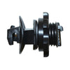Screw On Round Post Insulators - Black, 25 pack